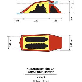 Hilleberg Nallo 2 Zelt red